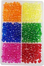 eshoppee Plastic Beads , Orange, Yellow, Blue, Green, Red, Pink, 450 pcs