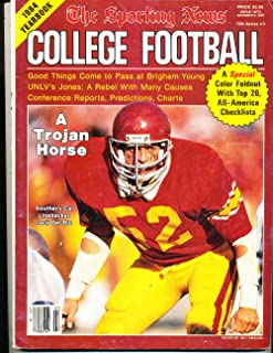 1984 The Sporting News College Football Yearbook Jack Del Rio USC nm bxft4