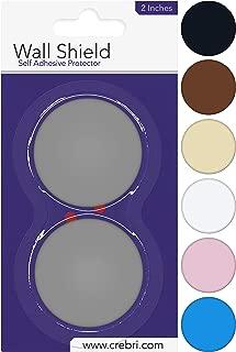 Door Knob Wall Shield, Rubber Wall Protector Plate, Door Handle Bumper (2 inches, Gray)