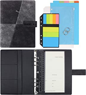 SynLiZy A5 PU Leather Personal Organizer Undated Planner (A5 Gray) 7.36