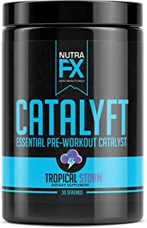 FX SUPPS Catalyft Pre-Workout Powder (Tropical Storm) Essential Dietary Supplement with Yohimbe, L-Citrulline, and Beta-Al...