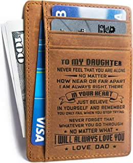 to my daughter wallet