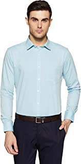 Amazon Brand - Symbol Men's Slim Fit Full Sleeve Fil A Fil Formal Shirt