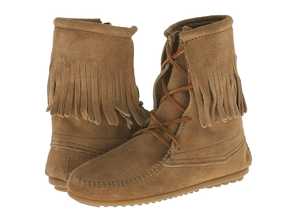 Minnetonka Tramper Ankle Hi Boot (Taupe Suede) Women