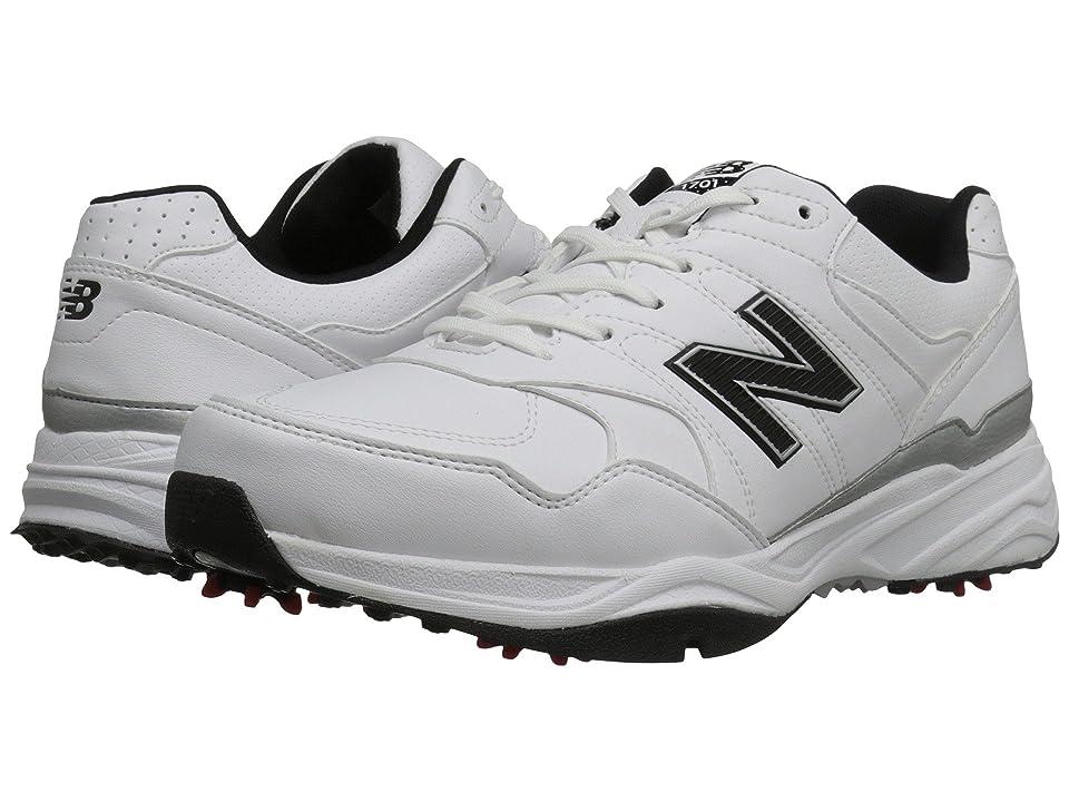 New Balance Golf NBG1701 (White/Black) Men's Golf Shoes