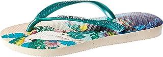 havaianas Womens Slim Tropical Sandal Slim Tropical Sandal Size: 1.5 Beige