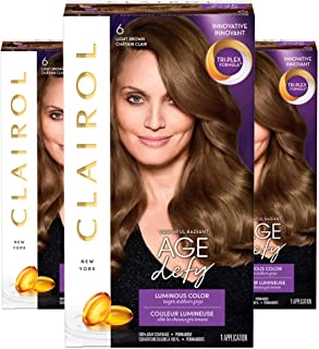 Clairol Age Defy Expert Collection 6 Light Brown 1 Kit, 1 Count (Pack of 3) (PACKAGING MAY VARY)
