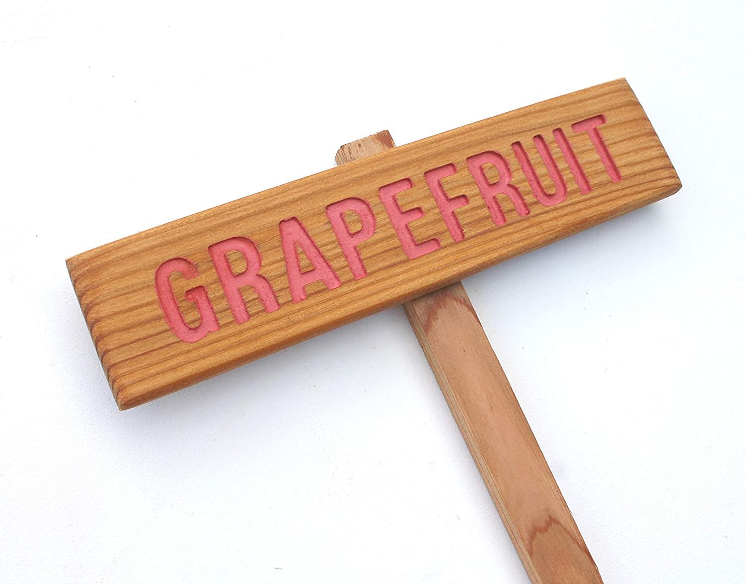 depot GRAPEFRUIT Rustic Tree Max 81% OFF Sign Hand Citrus Marker Wo Routed