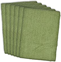 "DII Ultra Absorbent, Microfiber Towels, Beauty Salon Economy Cleaning Towels, 16 x 19"", Set of 6, Green"