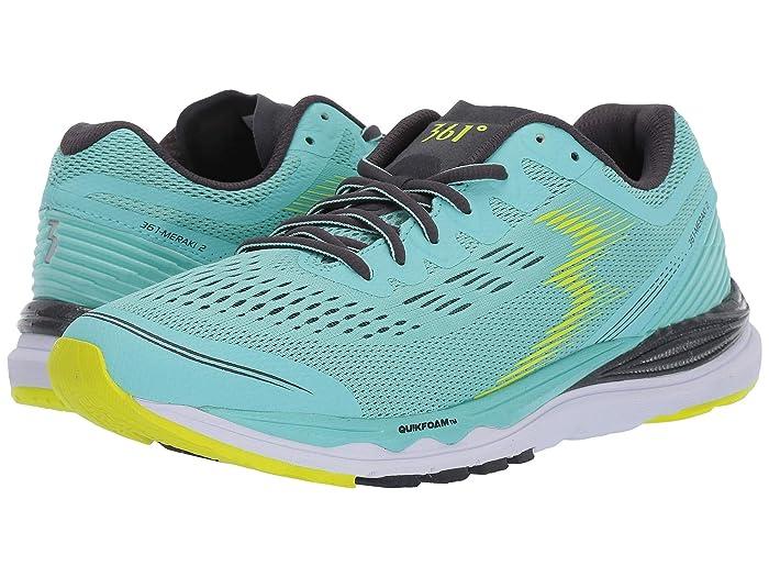 361 Degrees  Meraki 2 (Aruba Blue/Ebony) Womens Shoes