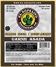 El Nopalito Beef Jerky – Cattle Sourced from CA - Gluten and Nitrate/Nitrite Free High Protein Snack - Made in the USA - Carne Asada