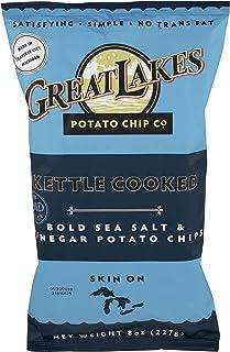 Great Lakes Potato Chips, Chip Potato Salt Vinegar, 8 Ounce