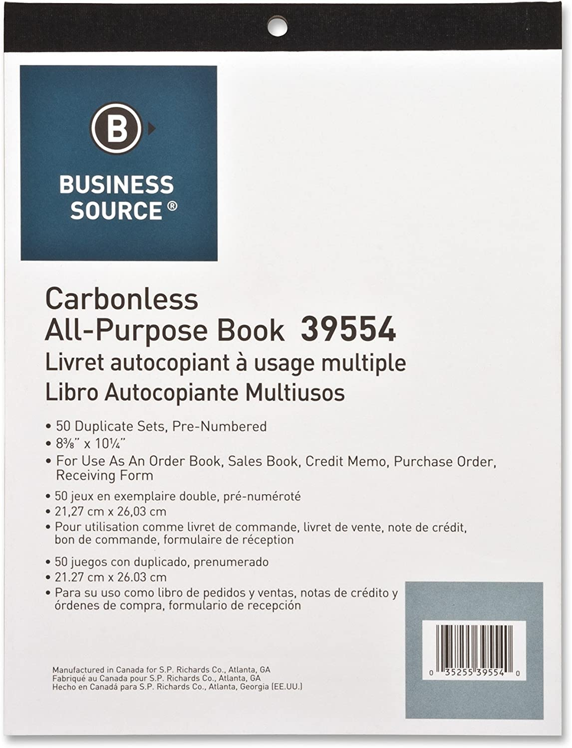 Business Source Carbonless Paper Office Supplies Carbonless Copy ...