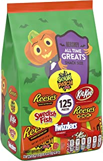 HERSHEY'S Halloween Candy, All Time Greats Snack Size Assortment, 57.1 Oz