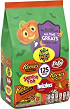 HERSHEY'S Bulk Halloween Candy, REESE'S, SWEDISH FISH, KIT KAT, REESE'S PIECES, All Time Greats Snack Size Assortment, 125...