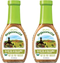Organicville Olive Oil & Balsamic Dressing, 8 Ounce, 2-Pack (USDA Organic, Non GMO, Whole30 Approved, Vegan, Gluten Free)