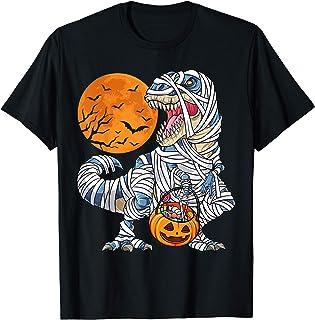 Halloween Shirts for Boys Kids Dinosaur T rex Mummy...