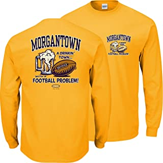 Smack Apparel West Virginia Football Fans. Morgantown Drinking Town Gold T-Shirt (Sm-5X)