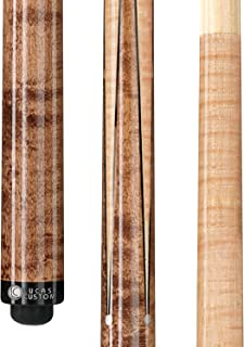 Lucasi Custom Birds-Eye Maple Sneaky Pete Pool Cue Stick with Upgraded Low Deflection Shaft