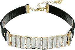 GUESS - Baguette Stone Front Choker Necklace