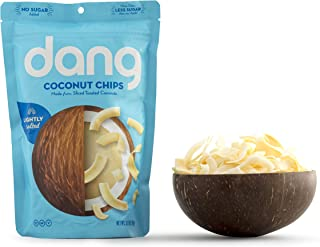 Dang Toasted Coconut Chips, Keto, Paleo, Gluten-Free, Vegan, Non-GMO, Unsweetened, Lightly Salted, 3.17 Ounce (1 Count)