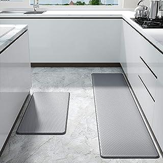 Color&Geometry Alfombrilla de Cocina de 2 Piezas, Alfombra Antifatiga, PVC Impermeable y Resistente al Aceite, Respaldo de...