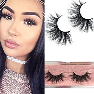 GOO GOO Mink Lashes, 18mm Natural False Eyelashes 3D Layered Effect Real Siberian Mink Fur Fake Eyelashes Hand Made Strips Eyelashes Reusable Make Up 1 Pair Natural Lashes