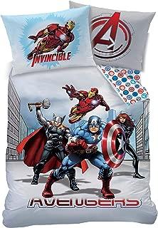Marvel Avengers City UK Single/US Twin Unfilled Duvet Cover and Pillowcase Set