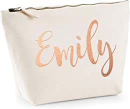 Personalised Gifts - Rose Gold Name Custom Text Pouch