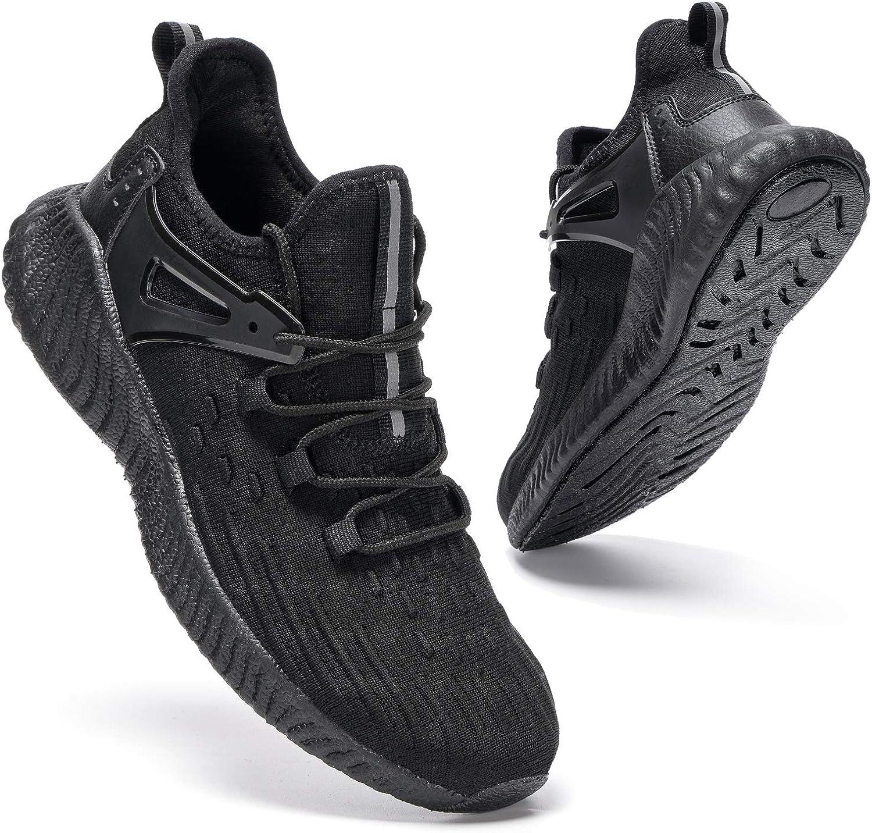 Slow Man Men's Slip On Tennis Shoes - Athletic Walking Casual Non-Slip Sneakers