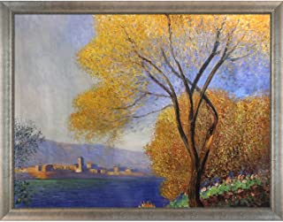 overstockArt Antibes View by Monet of Salis with Silver Scoop with Swirl Lip, Oversize