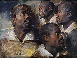 Rubens Four Studies Of A Head Of A Moor Extra Large Art Print Wall Mural Poster Premium XL 大アート壁ポスター