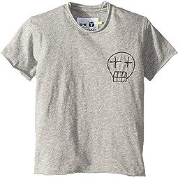 Embroidered Sketch Skull T-Shirt (Infant/Toddler/Little Kids)