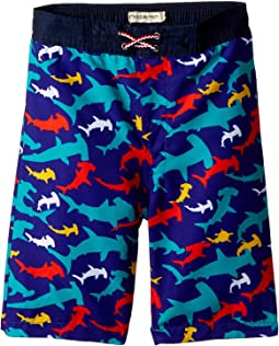Shark Print Swim Trunks (Toddler/Little Kids/Big Kids)