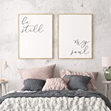 Wood Framed Sign 16x20'' Wooden Prints Printable Bedroom Printables Be Still My Soul Set of 2 Wall Art Above Bed Art Bedroom Decor Baby Nursery Decor Be Still Sign Wood Signs for Home Decor Quotes