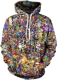 Men Cartoon Hero Chaos 3D Print Pullover Hoodie Sweatshirt with Front Pocket