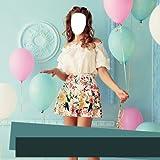 Mädchen Kurzes Kleid Foto Montage