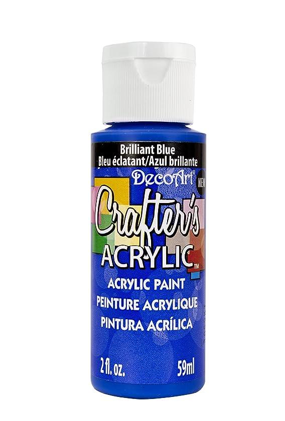 DecoArt Crafter's Acrylic Paint, 2-Ounce, Brilliant Blue