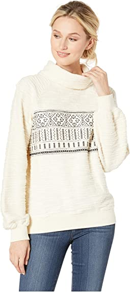 Fairisle Turtleneck Pullover Sweatshirt