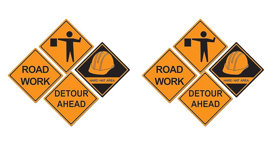 Beistle 55081 8 Piece Construction Sign Cutouts, 17