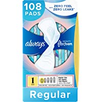 108-Count Always Infinity Size 1 Feminine Pads with Flexi Wings