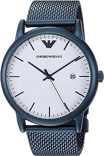 Emporio Armani Men's Luigi Analog-Quartz Watch with Stainless-Steel-Plated Strap, Blue, 22 (Model: AR11025)