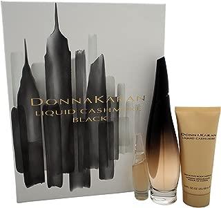 Donna Karan Liquid Cashmere Women's Gift Set, Black, 3 Count