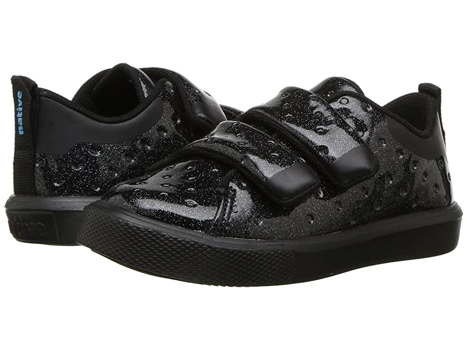 Native Kids Shoes Monaco HL Glitter (Toddler/Little Kid) (Black Glitter/Jiffy Black) Girls Shoes