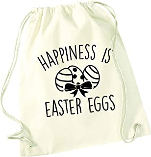 Flox Creative - Borsa con coulisse Happiness is Easter Eggs