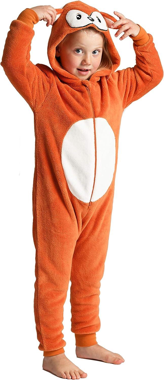 Onesie Fox o coniglio per ragazzi o ragazze coniglio con coda flluffy Animal Onesies in bambini con coda et/à 2-13 anni