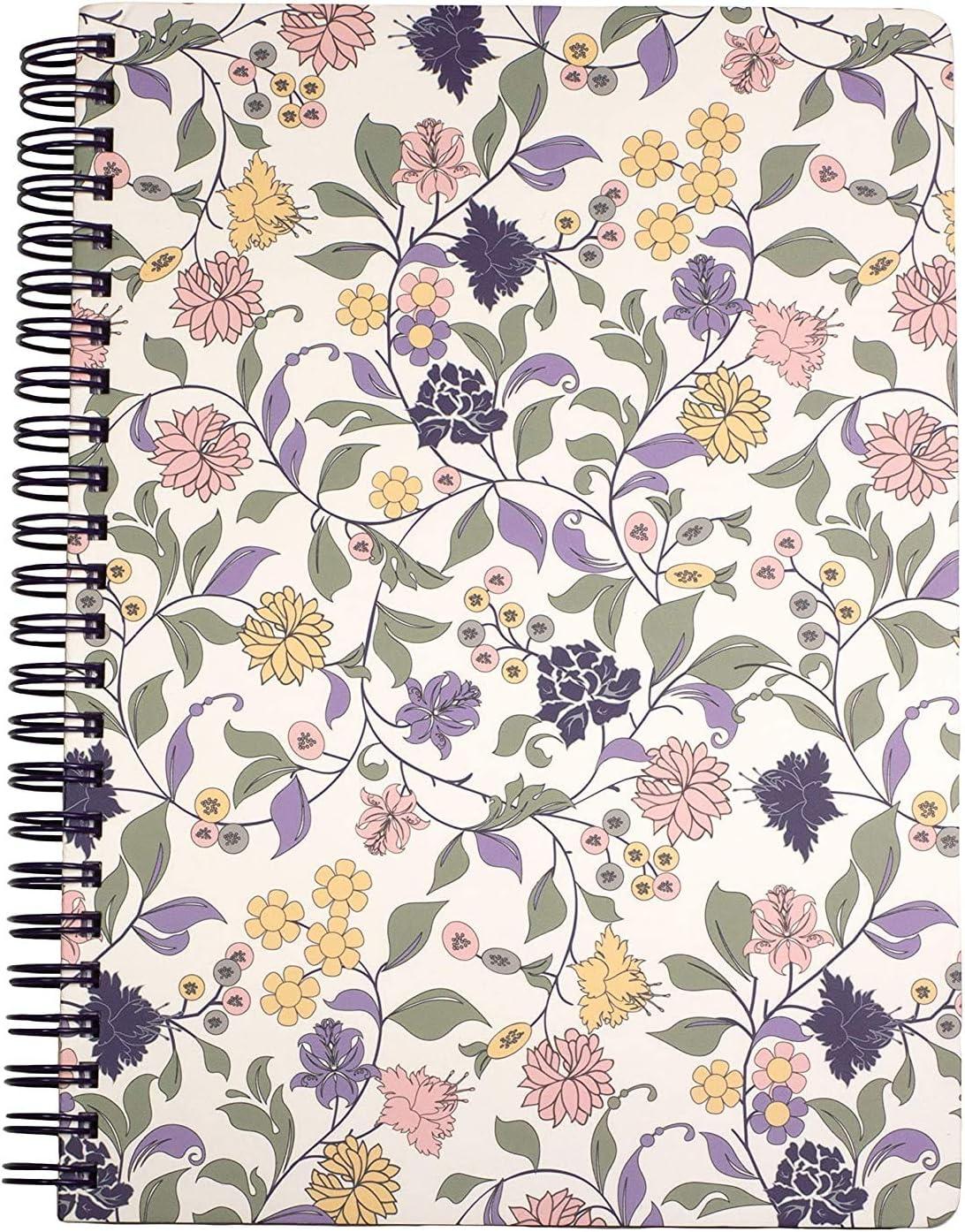 Steel Mill & Co Cute Floral Mini Spiral Notebook, 8.25