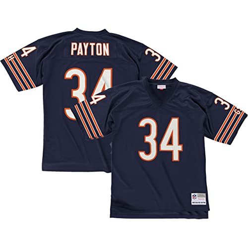 Mitchell   Ness Walter Payton Chicago Bears Dark Navy Throwback Jersey 7b4bbe83b