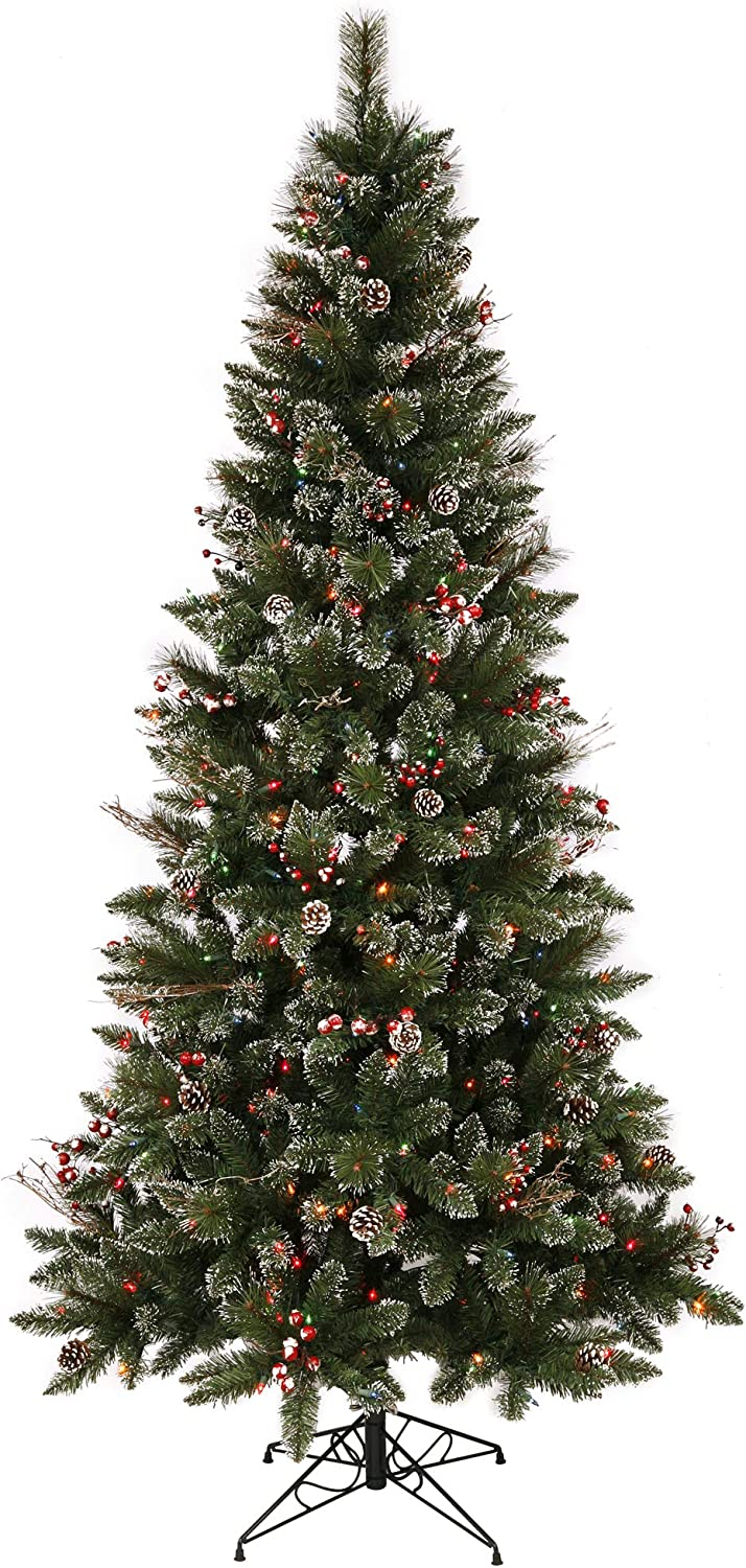 Vickerman 4.5' Snow Inventory cleanup selling sale Tipped Ranking TOP1 Pine Berry Artificial T and Christmas