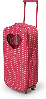 Badger Basket Trolley Doll Travel Case with Rocking Bed (fits American Girl Dolls) , Star Pattern